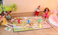 Elf on the Shelf Idea: Playing a board game