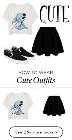 """random cute outfit xx"" by emmanewbo5133 on Polyvore featuring Vans"