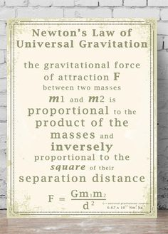Newton's Law of Universal Gravitation. He was 23 when he discovered the law of gravity. What goes up must come down — though not always in the way you'd expect. This is Newton's Universal Law of Gravitation, and you can thank it for GPS, Google Earth and even the pictures beamed back from the other side of the Solar System. Here's why.