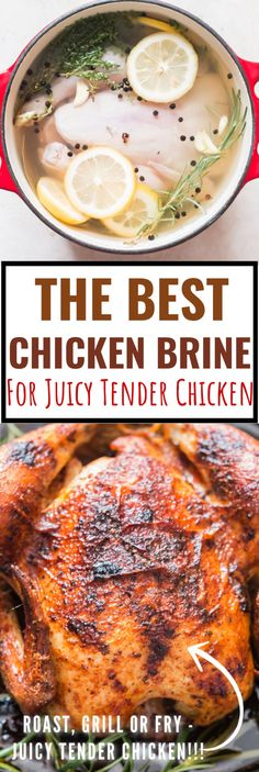 How To Brine Chicken - The best chicken brine is here to make juicy tender chic. - How To Brine Chicken – The best chicken brine is here to make juicy tender chicken no matter how - Moist Chicken, Healthy Chicken Recipes, Vegetarian Recipes, Cooking Recipes, Cooking Tips, Beginner Cooking, Basic Cooking, Game Recipes, Grill Recipes