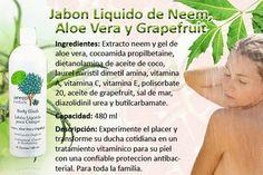 Jabón líquido de Neem, Aloe vera y Grapefruit