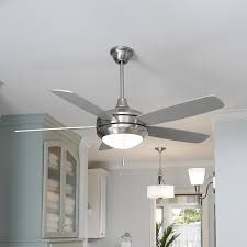 Hunter Duncan In LED Indoor Fresh White Flush Mount Ceiling Fan - White kitchen ceiling fan with light