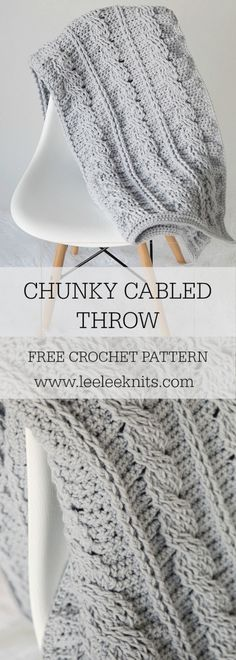 Timeless Cabled Throw Crochet Pattern