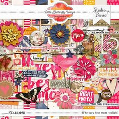 The very best mom - Kit collab from Little Butterfly Wings with Studio Basic. #CTproduct #digiscrap