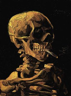 Skull of a Skeleton with Burning Cigarette, Van Gogh, 1885 http://www.cultofweird.com