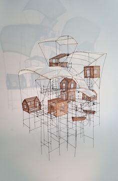 Architecture Drawings, Concept Architecture, Paint Photography, Art Sculpture, Scaffolding, Art Techniques, Installation Art, Art Education, Art Inspo