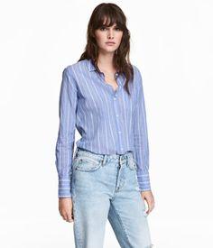 Cotton Shirt   Blue/striped   Women   H&M US