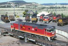 Goulburn railyard NSW Australia 1986