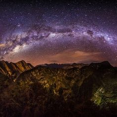 Milky Way over Macchu Picchu Peru