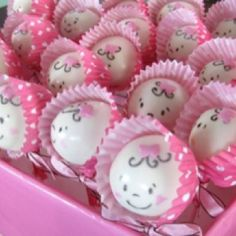Cake pops with mini cupcake paper cup bonnet