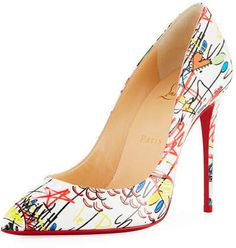 a9e68a197f5c Christian Louboutin So Kate Loubitag Graffiti Red Sole Pump Shoes in ...