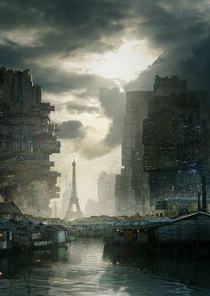 Dust in Neo-Trocadero by Exphrasis - Geoffrey Ernault - CGHUB