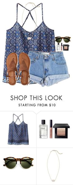 """First Day of Spring;)"" by flroasburn ❤ liked on Polyvore featuring WithChic, Levi's, Bobbi Brown Cosmetics, Kendra Scott and Aéropostale"