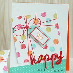 email: Webview: Juli 2014 Papertrey Ink News - Papertrey Karten - Geburtstag Handmade Birthday Cards, Happy Birthday Cards, Greeting Cards Handmade, Birthday Greetings, Birthday Wishes, Bday Cards, Card Making Inspiration, Card Tags, Scrapbook Cards