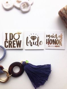 """I Do"" Crew Gold Temporary Tattoos for Bachelorette Party 