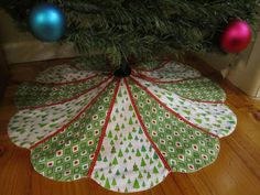 Christmas Tree Skirt from Sunday's Quilts
