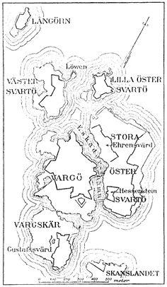 Map of Sveaborg at the - Suomenlinna - Wikipedia, the free encyclopedia Finnish Civil War, Swedish Navy, Finnish Language, Crimean War, Peter The Great, Baltic Sea, Archipelago, Helsinki, World Heritage Sites