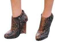 Giuseppe Zanotti Snakeskin brown and black Boots
