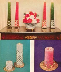 Glamorize your Christmas Candles with this mid century DIY. http://www.retrorealtygroup.com