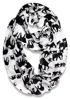 Find amazing Woman Ultra Soft Paris Yarn Gorgeous Elephant Print Long Scarf Shawl Wrap-Creamy White elephant gifts for your elephant lover. Great for any occasion! Elephant Love, Elephant Print, Elephant Gifts, Grey Fashion, Unique Fashion, Amazing Grays, Women Socks, Animal Print Scarf, Loop Scarf