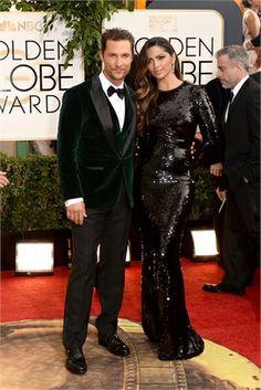 Matthew and Camila  #GoldenGlobes 2014