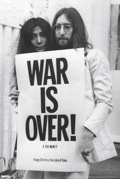 John Lennon & Yoko Ono: War Is Over Fine Art Print Poster