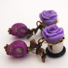 Purple Pallor 00g 10mm Plugs for Stretched Ears by Glamsquared, $26.00