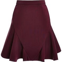 Cushnie et Ochs Power Viscose Skirt (2.585 BRL) ❤ liked on Polyvore featuring skirts, saias, bottoms, bordeaux, frilly skirts, ruffle skirt, high-waisted skirts, viscose skirt and high waisted ruffle skirt