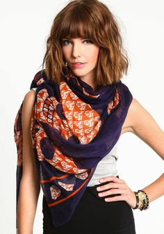2013 $10 his bold scarf features a skull design. Sheer and lightweight. 100%