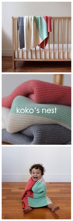 100% Egyptian Cotton // Baby's First Blanket -- Soft, luxurious, and machine washable for the modern nesting family // kokosnest.com