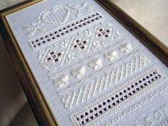 hilo刺繍教室 - Gallery Hardanger Embroidery, White Embroidery, Cross Stitch Embroidery, Cross Stitch Patterns, Halloween Embroidery, Drawn Thread, Cut Work, Blackwork, Needlework
