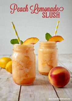 Peach lemonade slush