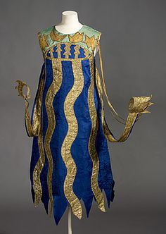 Ballets Russes   Costume for a squid c.1916  by Natalia Goncharova  silk, lamé, wire, paint  117.0 (h) cm  Purchased 1996  National Gallery of Australia, Canberra  NGA 1996.215