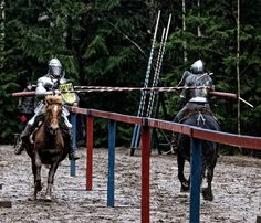 Jose Bernardes(left) and Anu Nuotio (right) joust during the Finnish National Championship 2015 (photo by Marjo Lunden)