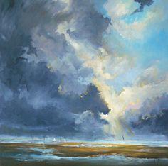 """W Van de Wege; Acrylic, 2012, Painting """"Oosterschelde light and shadow"""""""