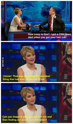 Jennifer Lawrence on the news