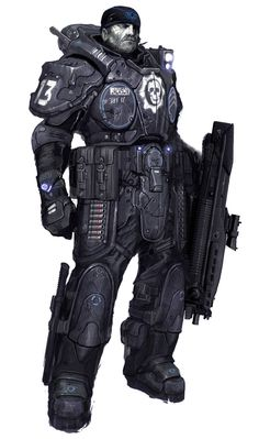 View an image titled 'COG Trooper Art' in our Gears of War art gallery featuring official character designs, concept art, and promo pictures. Character Concept, Character Art, Concept Art, Character Design, Charlie Bowater, Armadura Cosplay, Cyberpunk, Gears Of War 3, Art Du Monde