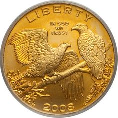 Us Gold Coins | 2008 Bald Eagle Commemorative Five Dollar Coin