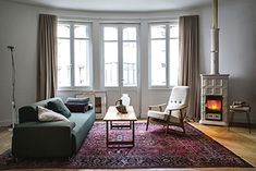 Marlene L / A , Wood Burning Stoves by Sergio Leoni Wood Charcoal, Pellet Stove, Heating Systems, Scandinavian Style, Wood Burning, Living Spaces, Living Rooms, New Homes, Home Decor