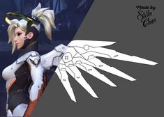Mercy Classic Skin Wings Pattern for Cosplay by StellaChuu on Etsy