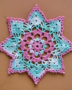 Dainty Little Doilies Pattern Download - Devin Doily Pretty color inspiration
