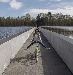 Fietsen door het water aan knooppunt 91 in Limburg. Te combineren met 22 km lange fietstocht 'Fietsen door het water'
