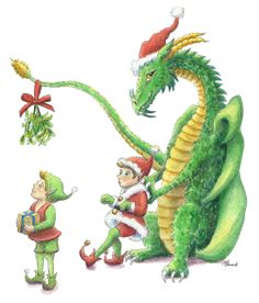 Christmas-Dragon-May love find you this holiday season! by Heidi Buck