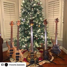 @bassmusicianmag #Repost @moore.basses ・・・ Happy Holidays from Moore-Basses. #bass #bassporn #notreble #bassplayerunited… #BassMusicianMag