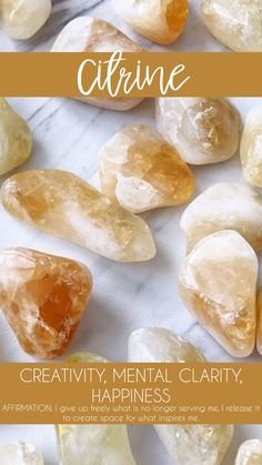 Citrine Tumbled Pocket Stone — Rocks with Sass Crystal Healing Stones, Citrine Crystal, Crystal Magic, Crystal Grid, Crystals Minerals, Rocks And Minerals, Crystals And Gemstones, Stones And Crystals, Diy Crystals