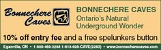 Bonnechere Caves Coupon: $10 off entry fee