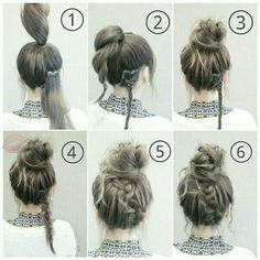 Easy hairstyle #MessyShagHairstyles
