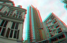 https://flic.kr/p/ZV98as | Korte Hoogstraat Rotterdam 3D GoPro | anaglyph stereo red/cyan