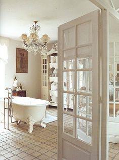 french doored bathroom