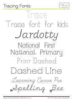 Tracing fonts